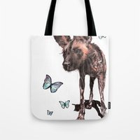 Painted Dog Tote Bag