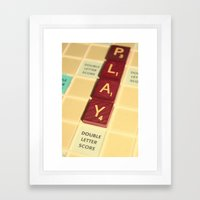 9 Points Framed Art Print