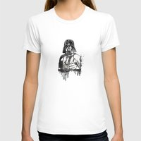Darth Vader Womens Fitted Tee White SMALL