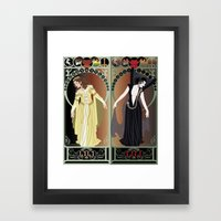 Legend Nouveau - Mirrore… Framed Art Print