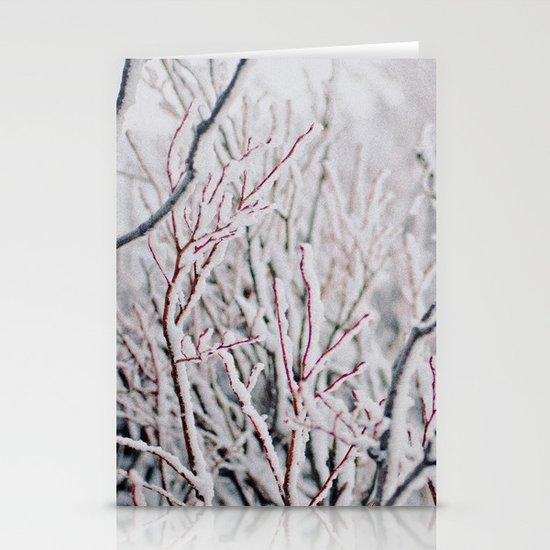 Winter Snow  Stationery Card