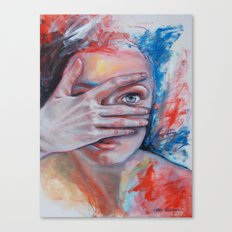 Peek Canvas Print