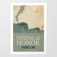 Medal of Honour - Frontline Art Print