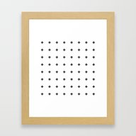 Framed Art Print featuring Black Plus On White /// … by Pencil Me In ™