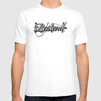 Graphic Bastard Mens Fitted Tee White SMALL