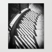 Stairway Shadows Canvas Print