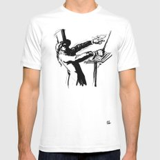 Maestro White Mens Fitted Tee SMALL