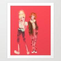 Valérie & Pomme Art Print