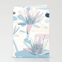 Waterlilies In Pastels Stationery Cards