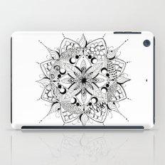 Mandala Art, India, Geometric, Tribal Art, Black and white iPad Case