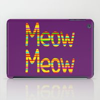 Meow Meow (in color) iPad Case