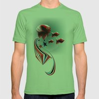Angel Fish Mens Fitted Tee Grass SMALL
