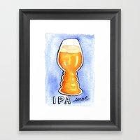 IPA Snob Framed Art Print