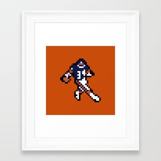 8-Bit: Walter Payton Framed Art Print