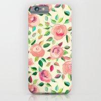 Pastel Roses in Blush Pink and Cream  iPhone 6 Slim Case