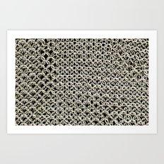 Silver net Art Print