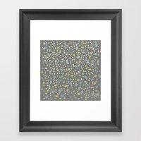 Dotty Yellow Design Framed Art Print