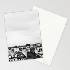Upon the rooftops (B&W) Stationery Cards