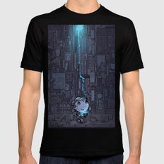 one day Black Mens Fitted Tee SMALL
