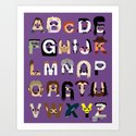 Horror Icon Alphabet Art Print
