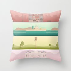 A Wes Anderson Collection Throw Pillow