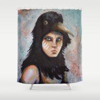 Raven girl Shower Curtain