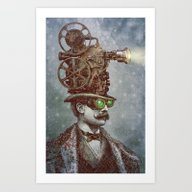 The Projectionist (colou… Art Print