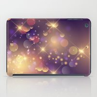 Festive Sparkles in Purple iPad Case