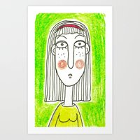 Green Girl Art Print