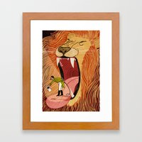 Lion Tamer Blues Framed Art Print
