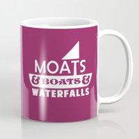 Moats and Boats and Waterfalls Graphic Mug