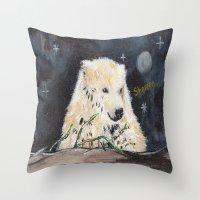 Polar Bear (night Hunt) Throw Pillow