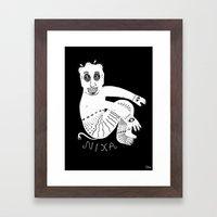 The White Demon Framed Art Print