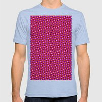 PINK DOT & STAR  Mens Fitted Tee Athletic Blue SMALL