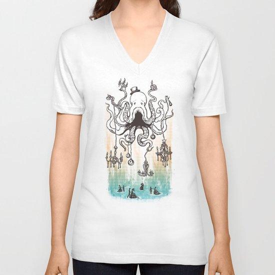 Octoluminary V-neck T-shirt