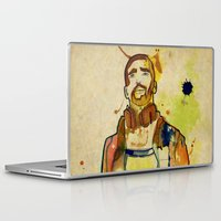 mario Laptop & iPad Skins featuring Portraits, Mario by CayenaBlanca