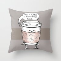Small Coffee Problems Throw Pillow