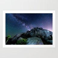 Milky Way Rock Art Print