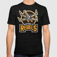 Republic Rebels - Black Mens Fitted Tee Tri-Black SMALL