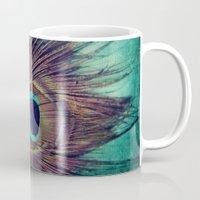 Peacock Feather Mug