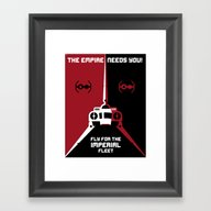 Fly For The Imperial Fle… Framed Art Print