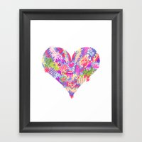 Radioactive Heart Framed Art Print