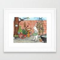 Rabbit's Garden Framed Art Print