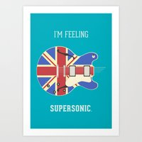 Supersonic Art Print