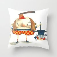 Halloween is here Throw Pillow