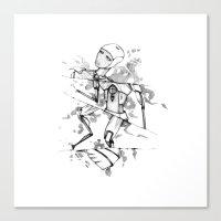 R0B0-H34RT (Robot Heart) Canvas Print