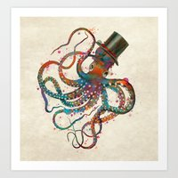 Mr Octopus Art Print