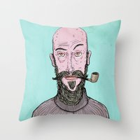 The Hipster Throw Pillow