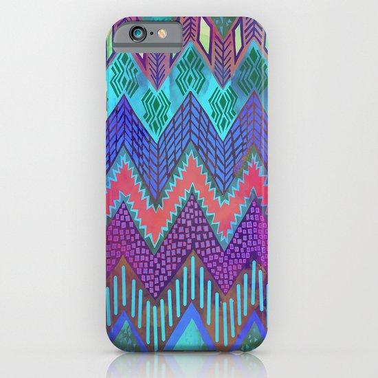 Tribal Chevron - Aqua iPhone & iPod Case