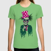 Skully Sam Womens Fitted Tee Grass SMALL